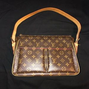 LV Viva Cite Gm Brown Monogram Canvas Shoulder Bag